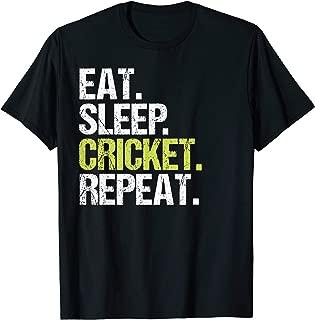 Eat Sleep Cricket Repeat Shirt Sport Fan Birthday Gift T-Shirt
