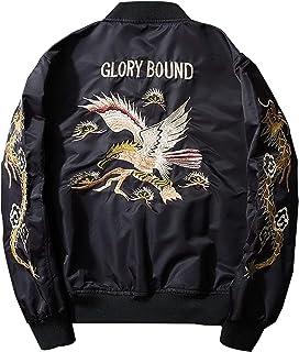 XYXIONGMAO Japanese Eagle Dragon Men'S Streetwear Bomber Jacket Men Oversized Windbreaker Couple Hip-Hop Clothing