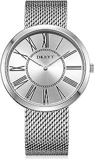 Men Watches,Analog Display Thin Minimalist Quartz Wrist Watch with Mesh Band
