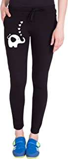 American-Elm Women's Black Cotton Jogger for Workout