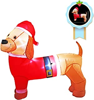 5 Ft Long Christmas Inflatable Dachshund Decoration Inflate Dog Decorations for Indoors Outdoors Yad Home Garden Lawn