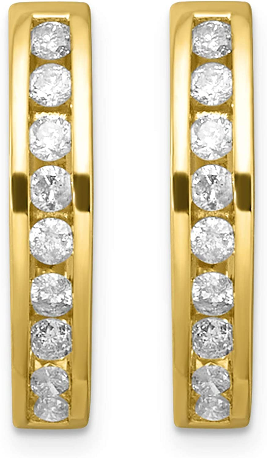 Lowest price challenge 10K Gold Diamond Hoop Earrings 1 5-1 3 cttw 40% OFF Cheap Sale I1 I-J Color Clar