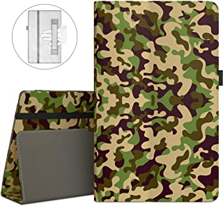 VORI Folio Case for All-New Amazon Fire HD 8 Tablet (8th/7th/6th Generation, 2018/2017/2016 Release), Slim Premium PU Leather Stand Protective Cover with Auto Wake/Sleep, Camouflage