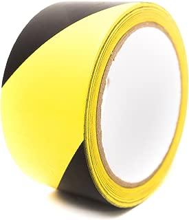 Bertech BERST-3BY Black/Yellow Safety Warning Vinyl Tape, 18 yd Long, 3
