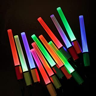 EverBrite LED Glow Sticks Flashlights with 8 Modes, 12-pack Assorted Colors Light Up Toys, Batteries Included, Bulk Party Favors Perfect for Concert, Birthday Party, Festivals Decoration