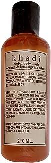 Khadi Orange And Lemongrass Body Wash, 210ml (Pack of 1) by Parvati Gramodyog Herbal Products - Made in India