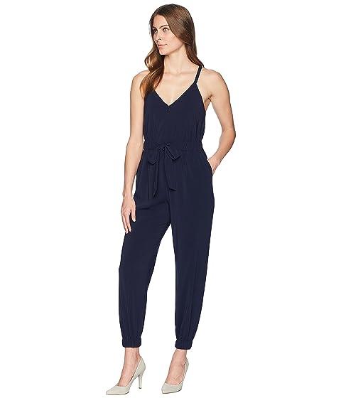 la Crepé con en elástico azul en con elásticas cintura tiras Camuto y Vince marino piernas corbata YwB57qY