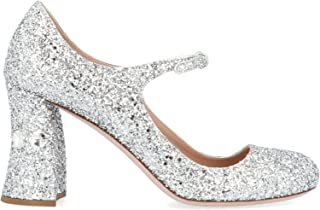 MIU MIU Luxury Fashion Womens 5I649CF08536BF0118 Silver Pumps | Fall Winter 19