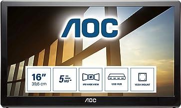 AOC i1659FWUX – 16 Zoll tragbarer FHD USB Monitor, AutoPivot (1920×1080, 60..