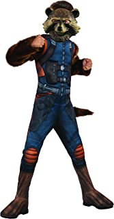 Rubie's Guardians of The Galaxy Vol. 2 Deluxe Muscle Chest Rocket Raccoon Child Costume, Large