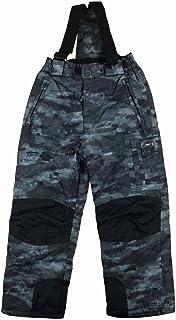 Weatherproof 32 Degrees Boy's Charcoal Zip-Off Suspender Snow Pants