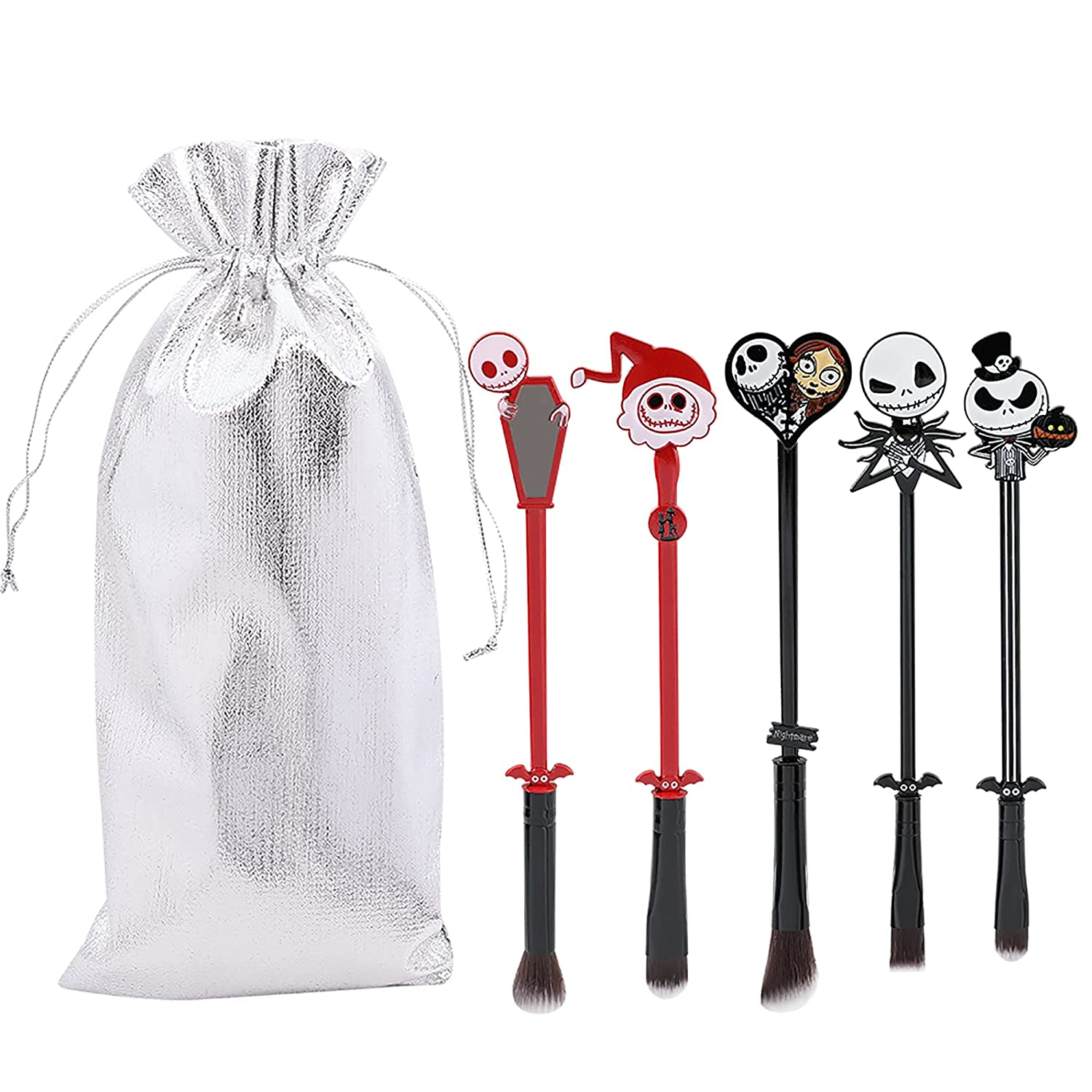 Nightmare Halloween Makeup Brush Sets All items free shipping Directly managed store G - 5pcs Classic