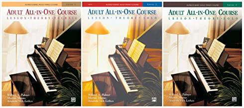 Alfred's Basic Adult Piano Course: Adult All-in-One Course Books Set (3 Books) - Level 1, 2, 3