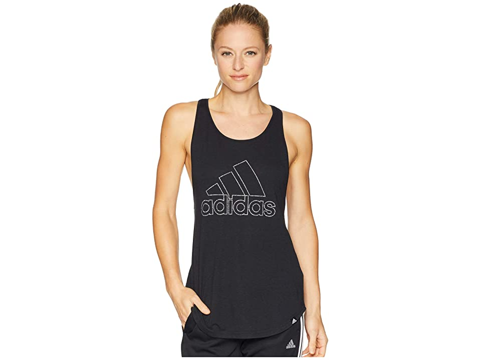 adidas Badge of Sport Tiny Script Tank Top (Black) Women