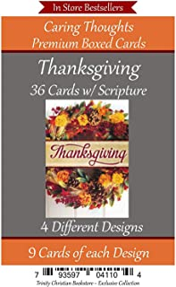 Thanksgiving 36 Card Religious/Christian Set with Scripture in Every Card