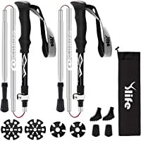 2 Pack Ylife Foldable Hiking Sticks for Hiking, Walking, Backpacking and Snowshoeing