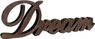 CVHOMEDECO. Letrero de Madera con Texto en inglés «Free Standing Dream Desk/Table/Shelf/Home Wall/Office Decoration Art, 14 x 4-1/4 x 1 Inch»