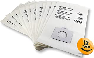K&J 12-Pack Type C Canister Vacuum Bags - Compatible All Kenmore C,Q Panasonic C-5 Vacuums