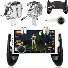 EAONE Mobile Game Controller, Sensitive Shoot and Aim Trigger Fire Buttons Joystick Fits iOS and Android 4.7-6.44 inch Cellphone
