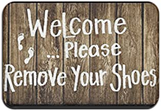 Custom Machine-washable Door Mat Welcome Please Remove Your Shoes Indoor/Outdoor Doormat
