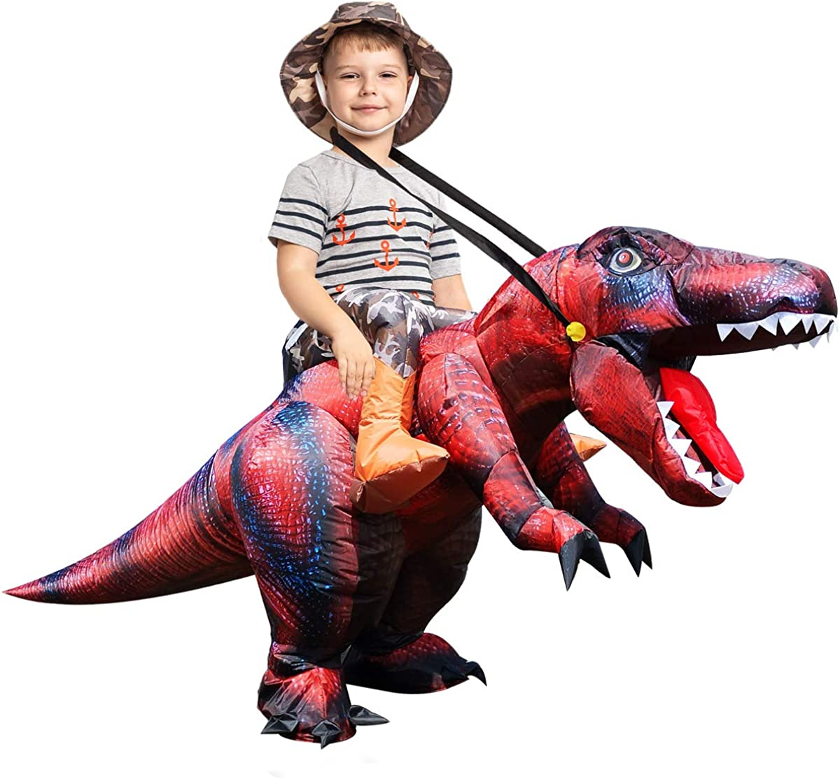 Seasonal Wrap Introduction GOOSH Halloween Inflatable Dinosaur Costume Air Child B for New popularity Tall