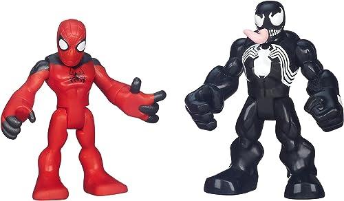 Playskool Heroes Marvel Super Hero Adventures Scarlet Spider-Man and Venom Figures by Playskool