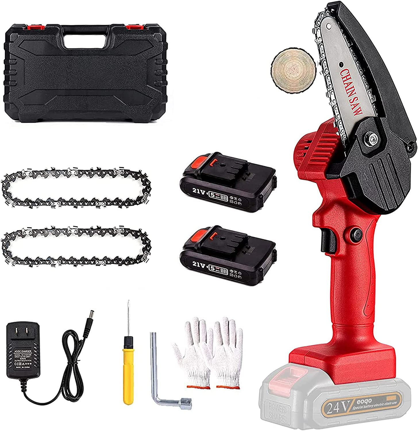 Don't miss the campaign Mini Chainsaw Set Limited time trial price 4 inch Samll L Powered Bttery Cordless Eletric