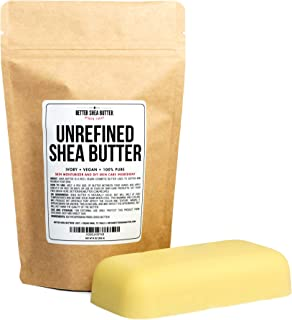 Unrefined African Shea Butter - Ivory, 100% Pure & Raw - Moisturizing and Rich Body Butter for Dry Skin - Suitable for All...