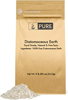 Pure Organic Ingredients 100% Natural Diatomaceous Earth |5 lb | Made in The USA, Food Grade & FCC Approved, for Health & Home, Freshwater DE, Purity, No Additives, Eco-Friendly Packaging