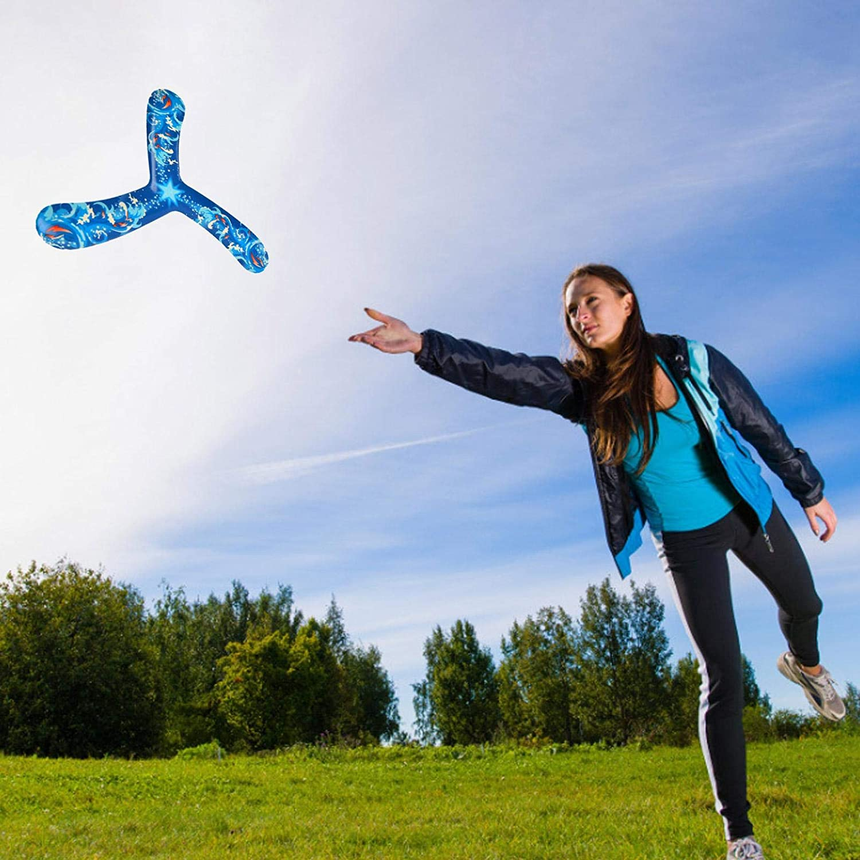 Cipliko Kids Bumerang Toy Bumerang Boomerang para Adentro Juego Ideal para Ni/ños Y Adultos Moscas De Ancho