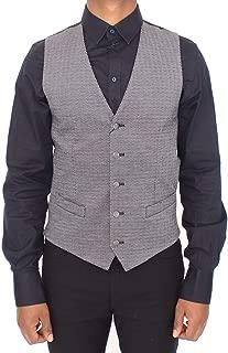 Gray Cotton Stretch Dress Vest Blazer