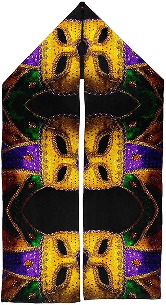 Mardi Gras Mask Warm Fleece Scarf