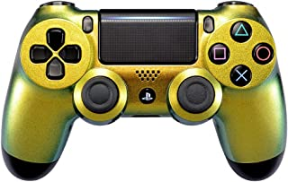 eXtremeRate Green and Gold Chameleon Front Housing Shell Faceplate for Playstation 4 PS4 Slim PS4 Pro Controller CUH-ZCT2 JDM-040 JDM-050 JDM-055