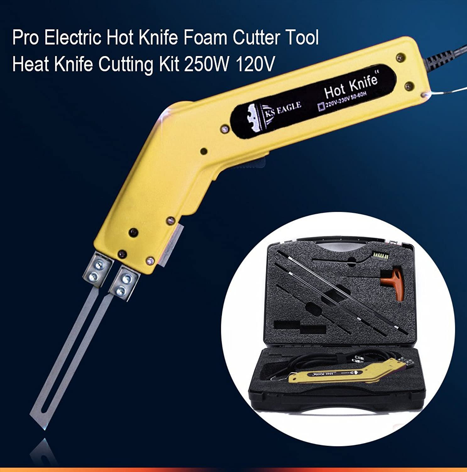 Pro Electric Hot Knife Foam Cutter Tool Heat Knife Cutting Kit 250W 120V xtvkwb8005528
