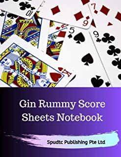 Gin Rummy Score Sheets Notebook