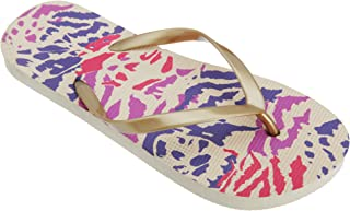 FLOSO Womens/Ladies Coloured Animal Print Toe Post Flip Flops
