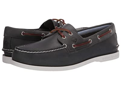 MENS SPERRY HAMILTON DRIVER CASUAL SHOES SAHARA; GREY; NAVY