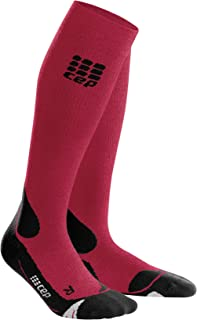 CEP Men's Long Compression Wool Socks Outdoor Merino Socks for Hiking