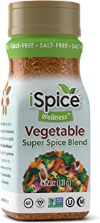 iSpice - Salt-Free | Sugar free | 100% Pure Wellness Vegetable Super Spice Blend | All Natural | Ready to use as is | No p...