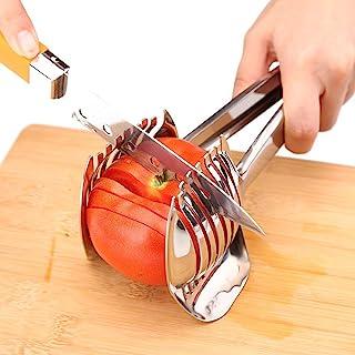 Best Utensils Tomato Slicer Lemon Cutter Multipurpose Handheld Round Fruit Tongs Stainless Steel Onion Holder Easy Slicing...