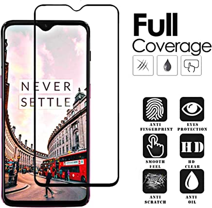 Aeidess 6D Tempered Glass for OnePlus 6T (Black) Edge to Edge Full Screen Coverage with Precisely-Engineered 6d Tempered Glass Screen Protector Provides a Crisp Viewing Experience Black
