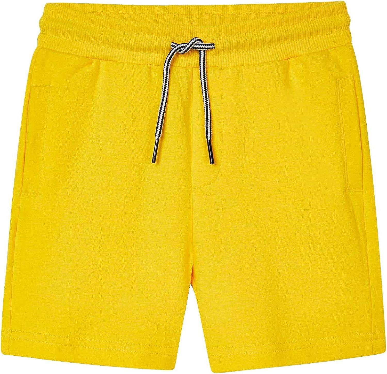 Mayoral - Basic Fleece Shorts for Boys - 0611, Yellow