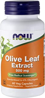 NOW Supplements, Olive Leaf Extract 500 mg, Free Radical Scavenger*, 60 Veg Capsules