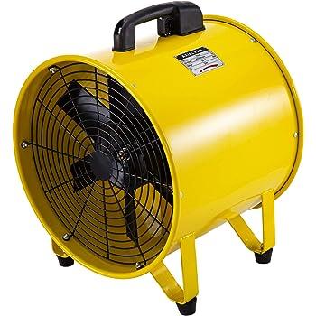 Frantools Ventilateur De Cylindre 520w Extracteur Industriel Avec Une Poign/ée Et 4 Pieds En Caoutchouc Pour Des Usines//Fermes De Chantiers Navals