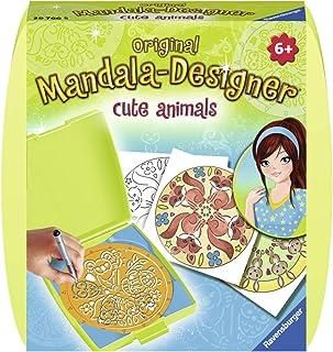 Ravensburger- Mandala Mini Cute Animals Loisir Créatif, 4005556297665