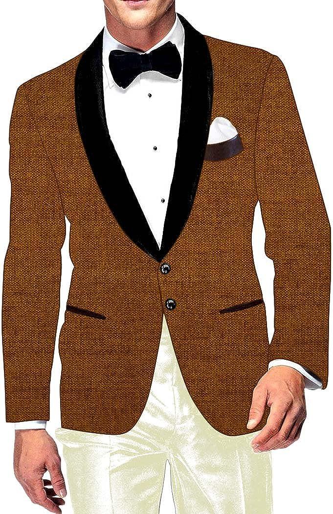 INMONARCH Mens Slim fit Casual Brown Blazer Popularity Velvet Sport Ja Rare Jute