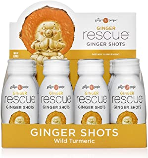 The Ginger People Ginger Rescue Wild Turmeric Ginger Shots, 2 Ounce, Pack of 12