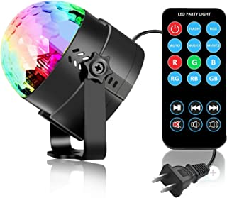 Vnina Disco Ball Party Lights LED Disco Lights Strobe Light DJ Dance Lights Effects with Colors Sound Activated for Kids B...
