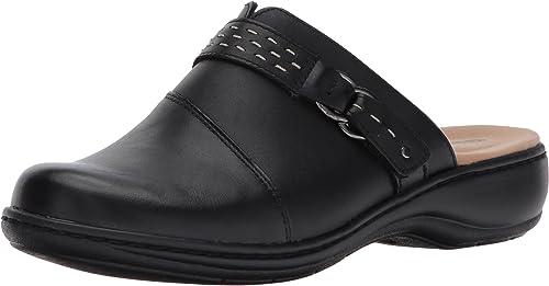 Clarks Wohommes Leisa Sadie Mule, noir Leather, 6.5 W US