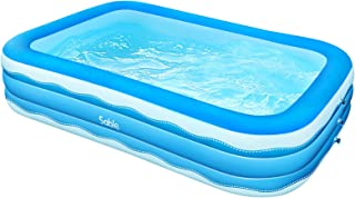 Sable Inflatable Pool, 118 x 72 x 22in Rectangular Swimming Pool for Toddlers, Kids, Family, Above Ground, Backyard, Outdo...